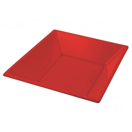 Red Deep white plate 170mm PS (25 pcs)