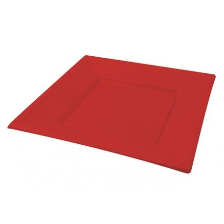 Red square plate (25 pcs)