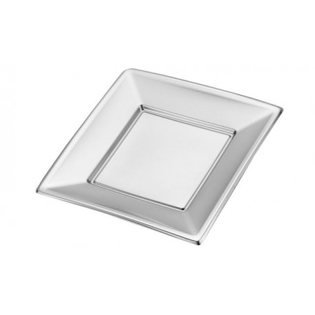 Silver plate 170mm PS (25 pcs)
