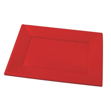 Red rectangular tray PS 330x225mm (25 pcs)