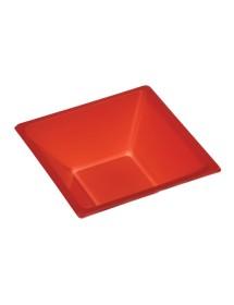 Cuenco cuadrado Rojo 12x12x5'2cm (Pack 25 uds)
