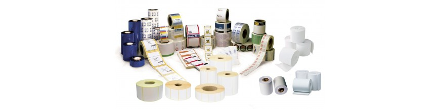 Paper rolls and labels