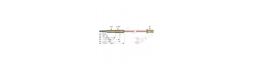 Head smooth thermocouple
