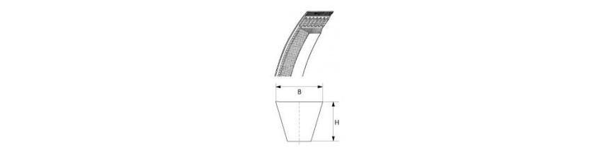 Poly-V-belt belt